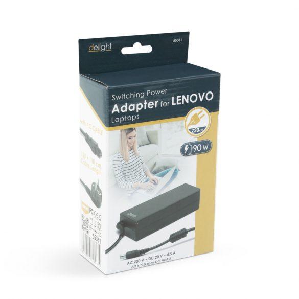 Delight 55361 Laptop adapter - Lenovo 90W / 20V / 4.5A