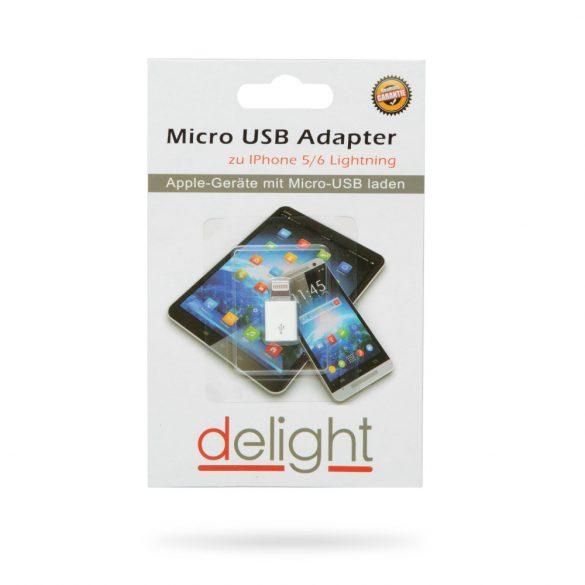 Delight 55448 MicroUSB Lightning adapter