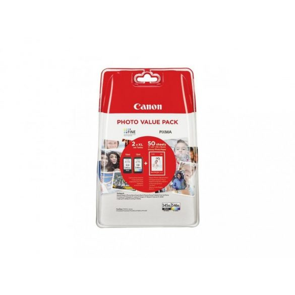 Canon PG545XL+CL546XL+GP501 10x15 photo value pack