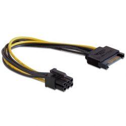 Delock PCIE VGA 6PIN-SATA tápkábel