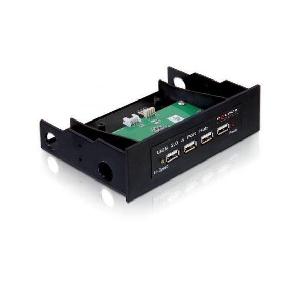 Delock 87448 4 portos előlepi USB2.0 hub