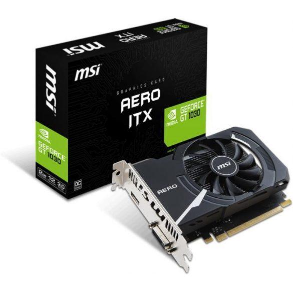 MSI Geforce GT1030 2Gb Aero ITX VGA kártya PCI-E