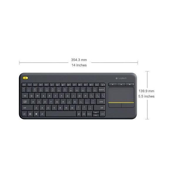 Logitech K400 Plus Touch vezeték nélküli billentyűzet és touchpad (angol)