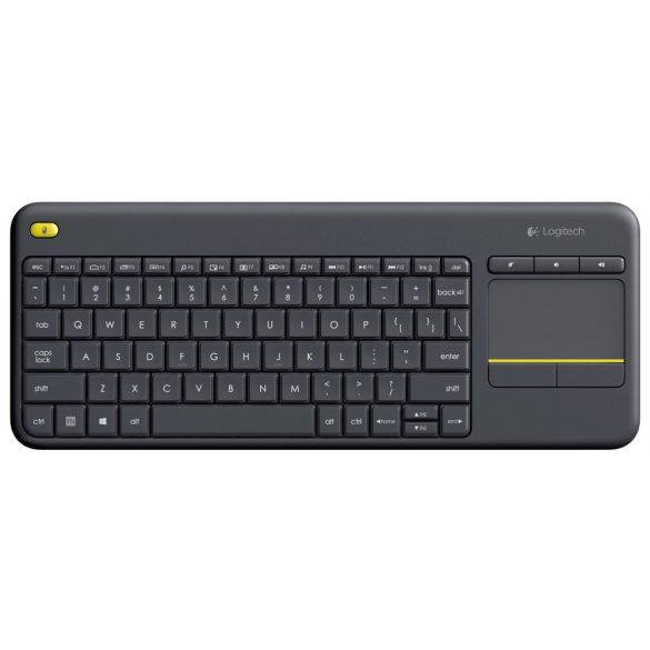Logitech K400 Plus Touch vezeték nélküli billentyűzet és touchpad (magyar)
