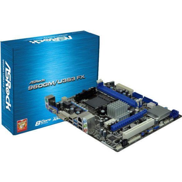 ASrock 960gm/U3S3 FX AM3+ alaplap