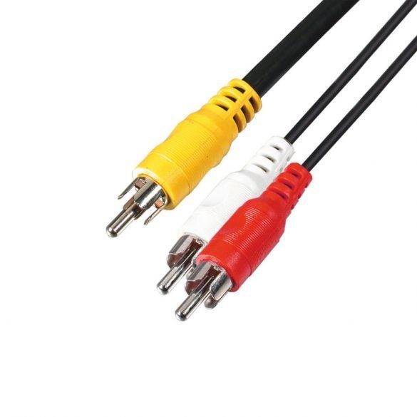 A4 3RCA dugó-3RCA dugó 3m kábel