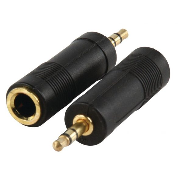 HQ AC005GOLD 3,5mm Jack dugó - 6,35mm Jack alj adapter, sztereó