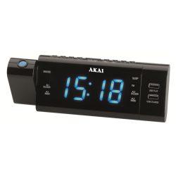 Akai ACR-3888 projektoros órás rádió USB lejátszással