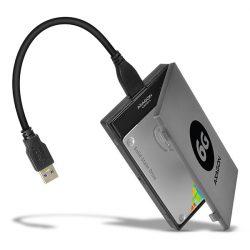 Axagon ADSA-1S6 USB3.0 SATA3 HDD/SSD külső ház