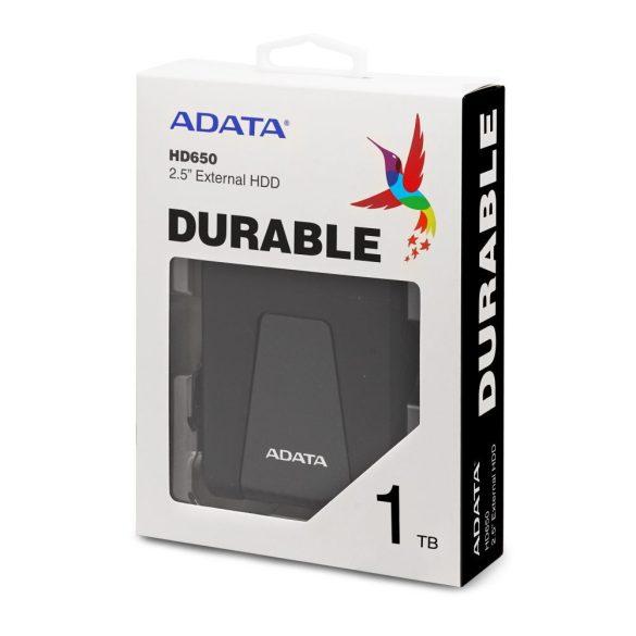 Adata AHD650-1TU31-CBK 1TB USB3.1 külső HDD