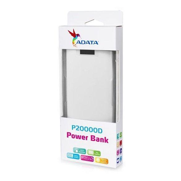 Adata AP20000D fehér powerbank 20000mAh