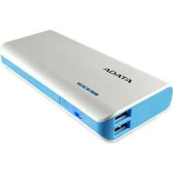Adata PT100 10000mAh fehér-kék powerbank