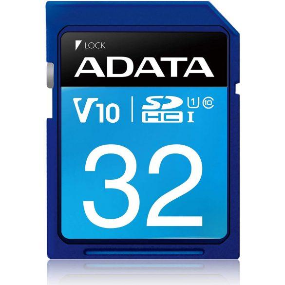 Adata ASDH32GUICL10-R 32GB SDHC Class 10, V10, UHS-I memória kártya