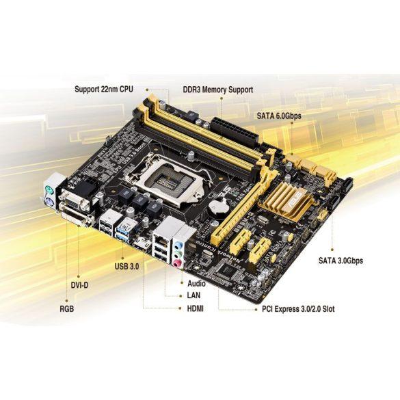 Asus B85M-G LGA1150 alaplap