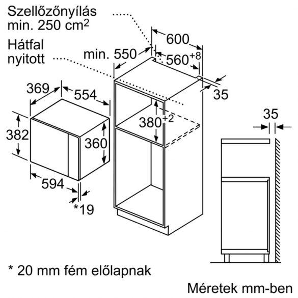 Bosch BFL554MS0 beépíthető mikró