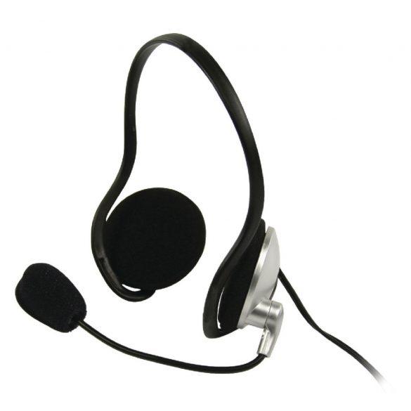 BasicXL BXL-HEADSET10 Stereo mikrofonos fejhallgató