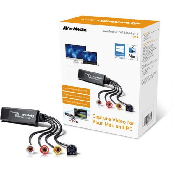 AVerMedia C039 DVD EZmaker 7 digitalizáló USB adapter