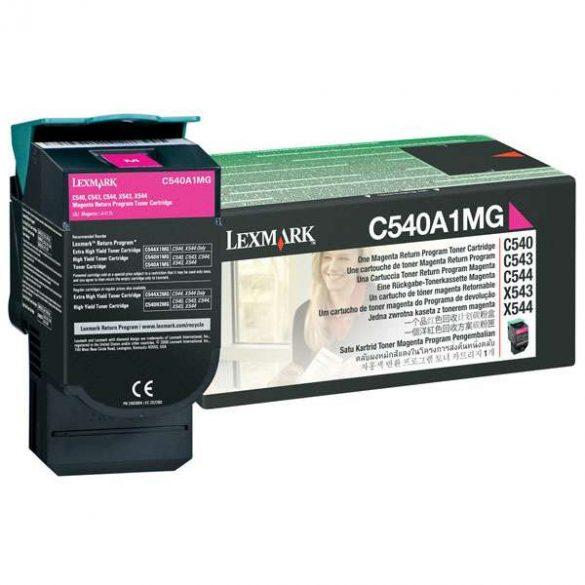 Lexmark C540/C543/C544/X543/X544 piros toner