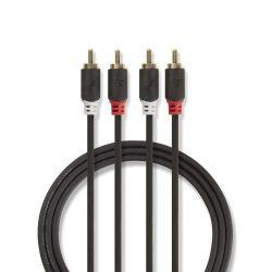 Nedis CABW24200AT50  sztereó RCA kábel, 5m