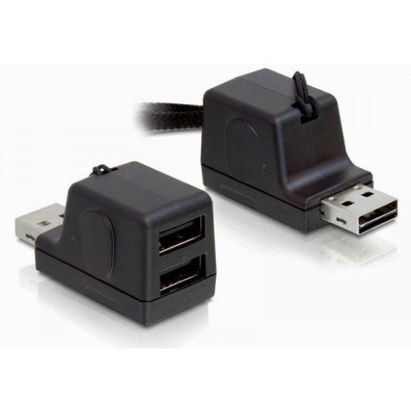 Delock USB Hub 2 portos + microSD kártyaolvasó