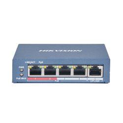 Hikvision DS-3E0105P-E(B) 5 portos POE switch 4PoE+1UPlink