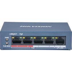 Hikvision DS-3E0105P-EM 5 portos POE (30W) switch 4PoE+1UPlink
