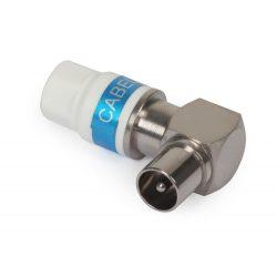 Cabelcon koax (IEC) könyök RG6 kábelre
