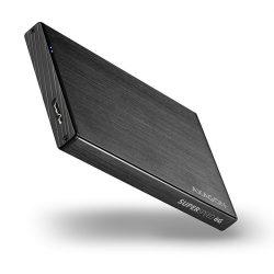 Axagon EE25-XA6 USB 3.0 fekete alumínium SSD/HDD tok