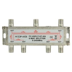 König FC-6SPLT-ST-KN 6 utas splitter, antennajel elosztó