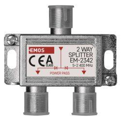 Emos EM-2342 2 utas antenna elosztó, DC pass