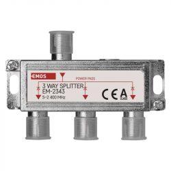 Emos EM-2343 3 utas antenna elosztó, DC pass