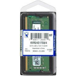 Kingston KVR24S17S8/4 DDR4 2400MHz SO-Dimm notebook memória