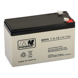 MW Power akkumulátor 7.2-12 S (12V, 7,2Ah)
