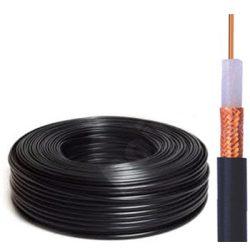RG-59 B/U Mil-C17 koax kábel fekete
