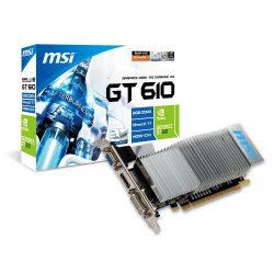 MSI N610-2GD3H/LP GT610 2GB GDDR3 PCI-Ex grafikus kártya