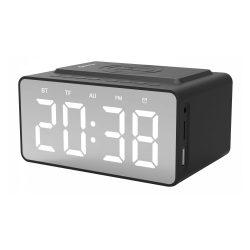 Quazar WR09BL órás rádió, Bluetooth hanszóró és vezeték nélküli töltő egyben