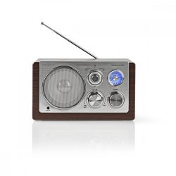 Nedis RDFM5100BN FM/AM/AUX retro rádió