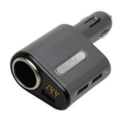 SAL SA061 3xUSB-3,1A, 12-24V-5A max. autós gyorstöltő
