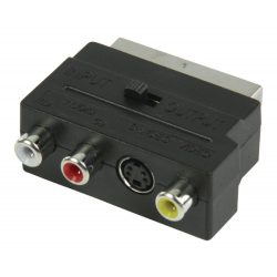 ValueLine VLVP31902B 3RCA+S-VHS SCART adapter in-out