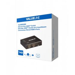 Valueline VLVSW3404 4 portos HDMI switch