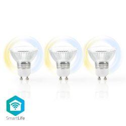 Nedis WIFILW30CRGU10 Smart LED izzó, GU10, 3db