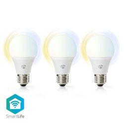 Nedis WIFILW33WTE27 WiFi Smart LED izzó, 3db