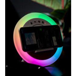 Zelux ZXWCRGB5W Bluetooth hangszóró, vezeték nélküli töltő, RGB hangulatvilágítás
